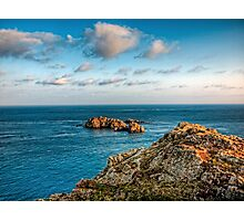 More rocks off Alderney! Photographic Print