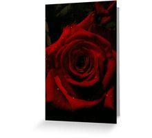 A rose at night 3 Greeting Card