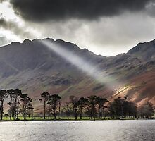 Buttermere Rays, Lake District by Heidi Stewart