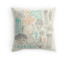 I love vegetables! Throw Pillow