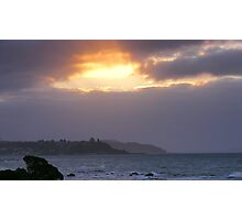sun setting by Penguin (Tasmania)  Photographic Print