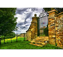 Old Gate to Rockingham Castle Photographic Print