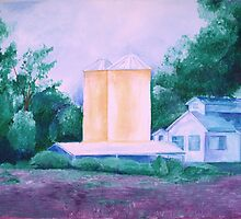 Lavender Farm painting by schiabor