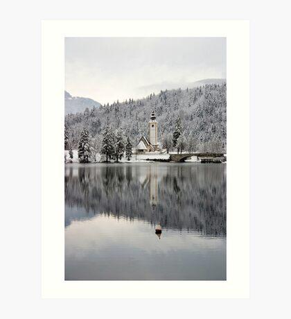 Alpine winter Art Print