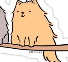 Fluffy Cat Couple  Sticker