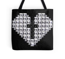 studded heart and cross Tote Bag