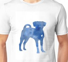 Blue dog kids wall decor Unisex T-Shirt
