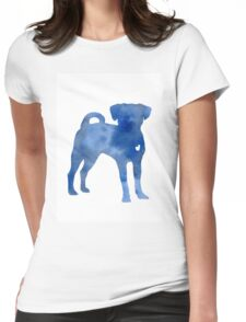 Blue dog kids wall decor Womens Fitted T-Shirt