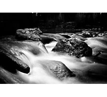 Water on Rocks Photographic Print