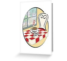 Coffee With A View Greeting Card