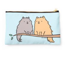Fluffy Cat Couple  Studio Pouch