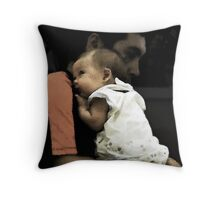 in dad's arms Throw Pillow