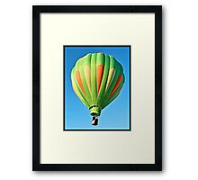 Green Balloon Framed Print