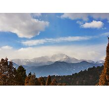 Pikes Peak Photographic Print