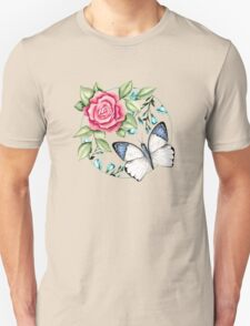 Butterfly and rose Unisex T-Shirt
