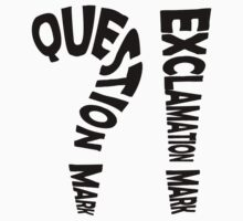 Question Mark Exclamation Mark Kids Clothes