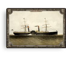 Steamship on Sea. Age of Steam #009 Canvas Print