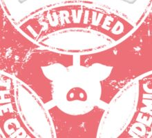 Swine Flu survivor Sticker