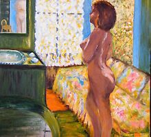 'Model in  Backlight' (Interpretation -'Bonnard') by allwyn