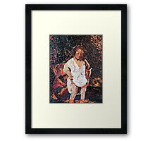 Woman Bathing - (Interpretation) Framed Print