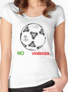 A Casual Classic iconic No Alla Violenza inspired t-shirt design T-Shirt  Women's Fitted Scoop T-Shirt