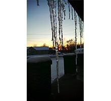 Icicle Sunset Photographic Print