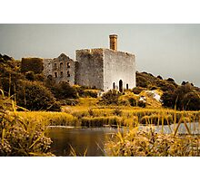 Derelict Lime Works in Autumn Colours Photographic Print