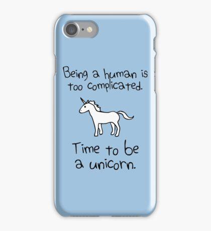 Time To Be A Unicorn iPhone Case/Skin