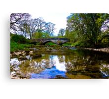 Stone Bridge - River Skirfare. Canvas Print