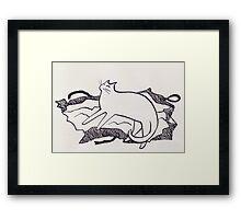 Cats love presents 2 Framed Print
