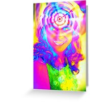 ELECTRIC RAINBOW Greeting Card