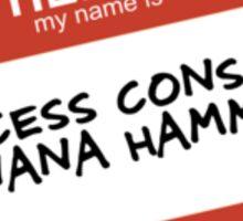 Princess Consuela Banana Hammock Sticker