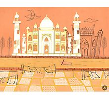 Agra Taj Mahal - Postcard From India Photographic Print