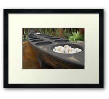 sungka, a Philippine mancala game Framed Print