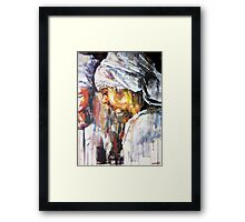 The girl with the white scarf Framed Print