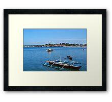 Fishing Boats in Baywalk, Palawan Framed Print