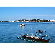 Fishing Boats in Baywalk, Palawan Photographic Print