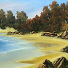 Lonely Beach by John Cocoris