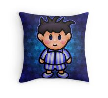Ness in Pajamas Throw Pillow