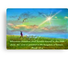 Mark 18:4 Canvas Print