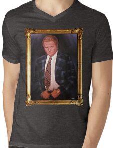 Biff Tannen Oil Painting Picture Mens V-Neck T-Shirt