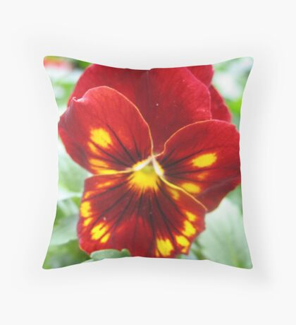 Flammable Pansy Throw Pillow