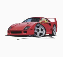 Ferrari F40 Red by Richard Yeomans