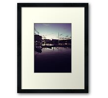 Night at the harbour Framed Print