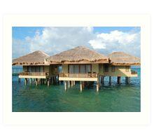 Dos Palmas Resort Cottages Art Print