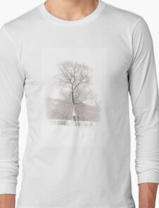 Solitary Tree in Snow Long Sleeve T-Shirt