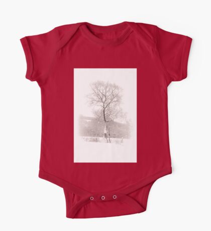 Solitary Tree in Snow One Piece - Short Sleeve