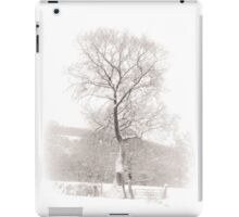Solitary Tree in Snow iPad Case/Skin