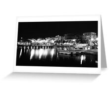 A Lit Up Geelong Waterfront Greeting Card