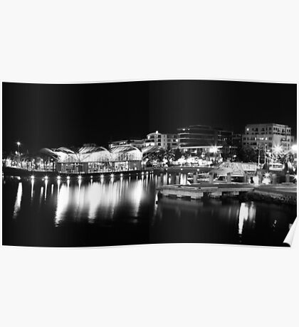 A Lit Up Geelong Waterfront Poster